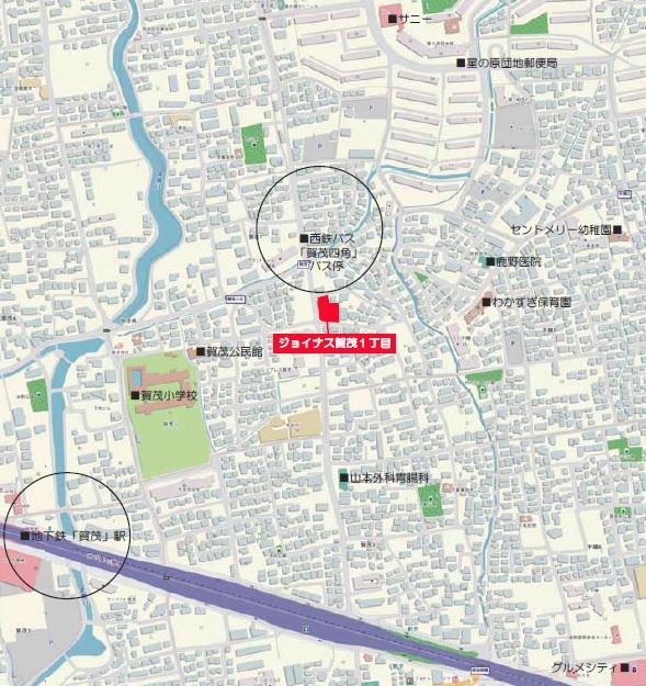 賀茂1丁目地図