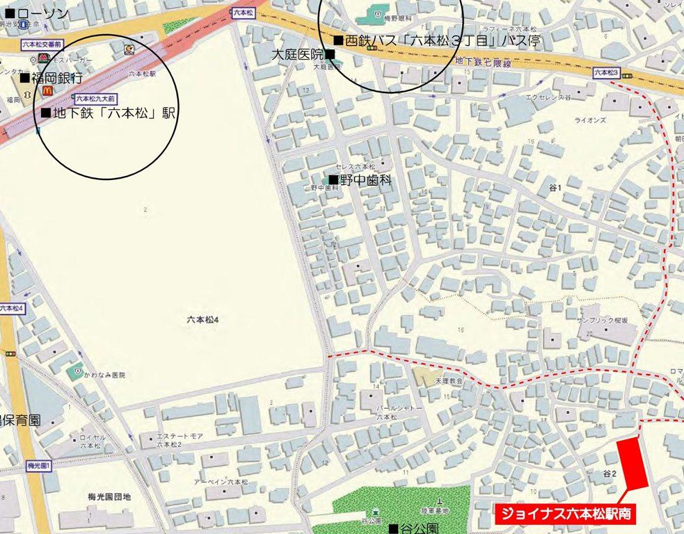 160226六本シ駅南